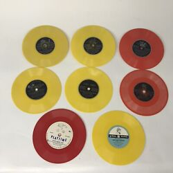Lot Of 8 Children's 45rpm Records Disney And Golden Records Various