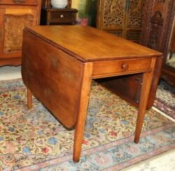 English Antique Walnut Art And Craft Large Drop Leaf Table   Living Room Furniture