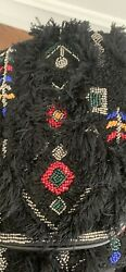 Ibban By Anthropologie Black Beaded Purse