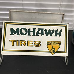Rare Vintage Mohawk Tires Metal Advertising Tire Gas Station Display Sign