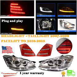 2010 2011 2012 2013 Mercedes S550 S Class Upgrade For 06-09 Headlight+taillight