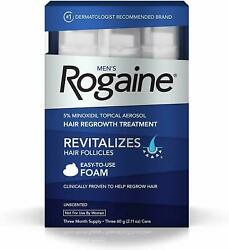 Rogaine Foam Hair Loss And Regrowth Treatment 5 Minoxidil - 1236 Month Supply