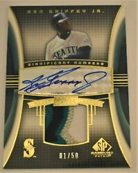2004 Sp Game Used Ken Griffey Jr. Significant Numbers Auto And Patch 1/50