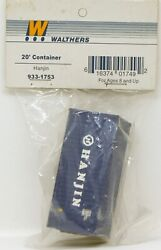 Walthers 20' Corrugated Container Hanjin Blue / White Ho Scale