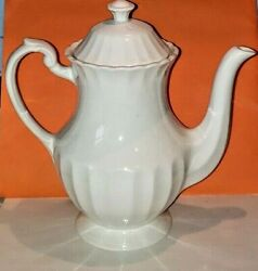 J And G Meakin Coffee Pot Classic White England