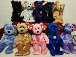 Lot Of 10 Beanie Babies Includes Princess Diana All Clubby Babies The End Plush