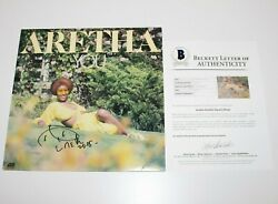 Aretha Franklin Signed And039youand039 Album Vinyl Record Beckett Coa Motown Legend Queen