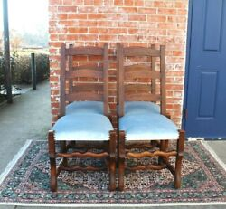 Set Of 4 French Antique Louis Xv Carved Walnut Dining Chairs W New Upholstery