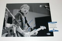 Dire Straits Mark Knopfler Signed 11x14 Photo Beckett Bas Coa Brothers In Arms