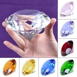 Ship From Usa 100mm Clear Crystal Diamond Paperweight Home Wedding Decoration Cr