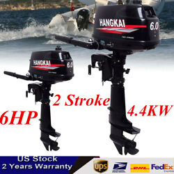 Hangkai 6hp 2stroke Outboard Motor Boat Marine Engine Water-cooled Cdi System Us