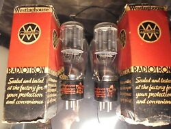 Westinghouse 2a3 Matched Pair Of Old Stock Tested 100 Boxed Vintage Valves