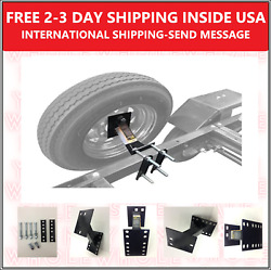 Spare Tire Wheel Mount Boat Utility Enclosed Trailer Bracket Carrier Cargo Rv