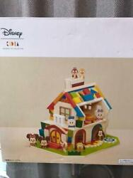 Disney Kidea Construction Wood House Mickey Mouse Wooden Toy Japan 0353ey