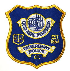Waterbury Connecticut Ct Police Sheriff Patch Shield Scale Justice Old