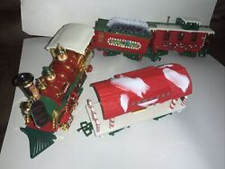 G Scale New Bright Musical Holiday Christmas Train Set Animated And Sound Nice