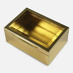 Sterling Silver Gilt And Glass Box Goldsmiths And Silversmiths 1910