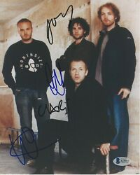 Coldplay Early Band Signed 8x10 Photo Beckett Coa X4 Chris Martin Everyday Life