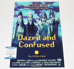 Matthew Mcconaughey Signed 'dazed And Confused' 12x18 Movie Poster Beckett Coa