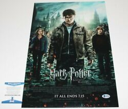 Daniel Radcliffe Signed Harry Potter And Deathly Hallows Pt 2 Movie Poster W/coa