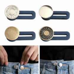 3-300pc Jeans Retractable Button Belt Buckle Adjustable Extended Seam Free Waist