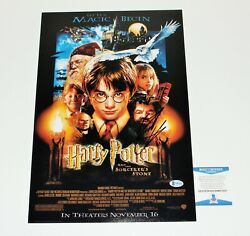 Daniel Radcliffe Signed Harry Potter And Sorcerer's Stone Movie Poster Beckett Coa