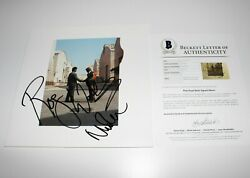 Pink Floyd Roger Waters And Nick Mason Signed Wish You Were Here Album Record Coa