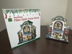 Fiber Optic Porcelain Christmas House The Grand Theater Holiday Lighted Village