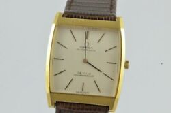 Omega De Ville Automatic Menand039s Watch 1 1/4in 18k 750 Solid Gold Golden Mercury