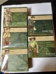 2011 - 2012 Australian 1 Famous Battles In History 4x1oz Silver Proof Coins Set
