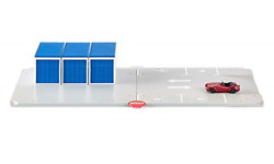 Siku World 5589 Garage And Parking Space With Vehicle Colourful Grey/blue