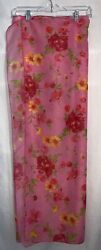 Christina Pink Flowered Sarong Beach and Resort Cover Up One Size $9.00