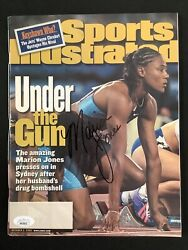 Marion Jones Signed Sports Illustrated 10/2/00 Olympic Track Gold Autograph Jsa