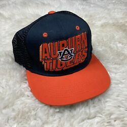 Auburn Tigers Snapback Hat Cap U Of A Trucker Blue Orange Embroidered Spell Out