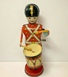 Vintage J Chein Tin Litho Soldier Works Great