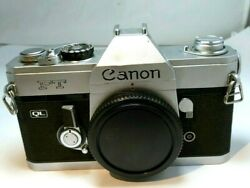 Canon Ft Ql 35mm Slr Film Camera Body Only - As Is With Issues