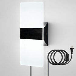 Modern Led Wall Lamp Wall Sconce Plug In Cord Bedside Living Lighting Fixture