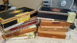 8 Wooden Cigar Boxes. Vintage Each Different All For 30