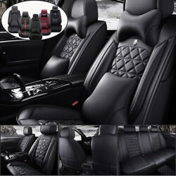 Universal 5-seats Car Seat Cover Frontandrear Seat Cushions Full Set All Weather