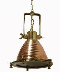 Nautical Exterior Kitchen Island Hanging Pendant Light Copper And Brass 10 Piece