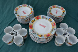 Coca-cola 12 Place Setting Dinnerware Set By Gibson Good Oland039 Days 2004
