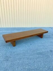 1950's Show-pieces Mid Century Modern Asian Low Coffee Or Teahouse Table Bench