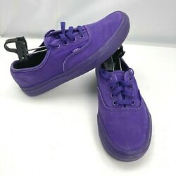 Vans Off The Wall Purple Skateboard Shoe TC6D Lace Low Top Sneakers Womens 7.5