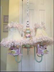 Ceramic Frog Chandelier And Lamps Set By Just Too Cute Child Room Nursery Decor