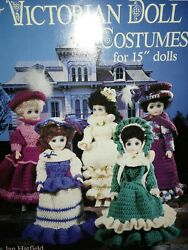 Victorian Doll Costumes For 15 Doll Crochet Pattern Book Vintage Deadstock