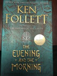 The Evening and the Morning by Ken Follett SIGNED Book First Edition 1st 1st 1st $41.00