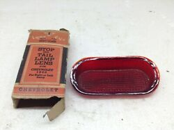 Vintage Lynx Eye 1940 Chevrolet Stop And Tail Lamp Lens In Box Glass Nos