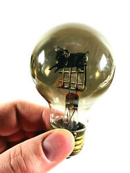 Antique Aerolux Light Bulb Sheep Jumping Over Fence Works Nice