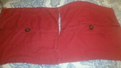 S/2 Pottery Barn Red Button Linen 26 Euro Pillow Covers