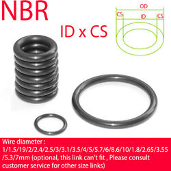 Nitrile Rubber O-ring Cs 1.8mm Nbr Oring Seal Sealing Id 1.8-130mm Oil Resistant
